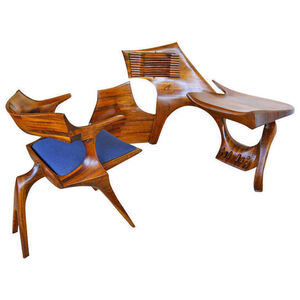 Jack Rogers Hopkins, 'Sculptural, hand crafted armchair & environment', 1972