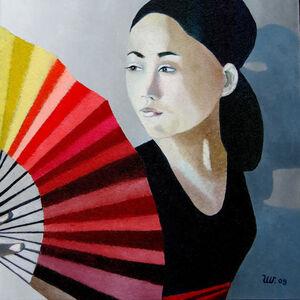 Ulla Wobst, 'The Red Fan', 2009