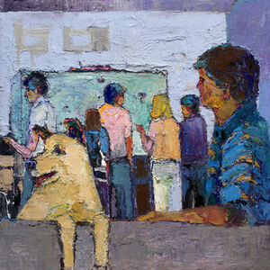 William Rushton, 'Summer Flat - urban life with dog ', 2017