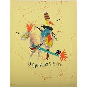 Wolfgang Roth, 'Rare Wolfgang Roth Dada Bauhaus Circus Silkscreen Print 3', 20th Century