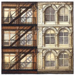 Gregory Halili, 'Neighbors (soho NYC)', 2005