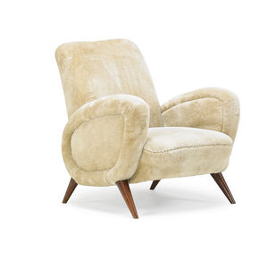 Style of Jean Royère, 'Lounge chair', 1940s-50s