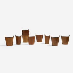 P.S. Heggen, 'Wastepaper Baskets, Set of Ten', c. 1965