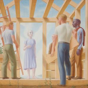 George Tooker, 'Builders', 1952
