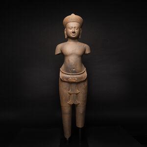 Khmer, 'Khmer Standing Vishnu ', 1100 AD to 1200 AD