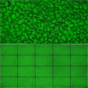Matt Mullican, 'Untitled (all I see are light patterns in green/elements)', 2018