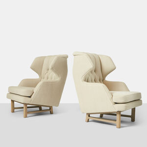 "Edward Wormley, 'Pair of ""Janus"" Wing Chairs by Edward Wormley', 1950-1959"