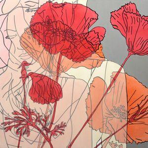 Hilary Bond, 'Lana and Flowers', 2016