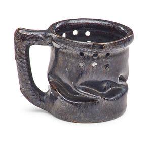 George Ohr, 'Puzzle mug with in-body twist, gunmetal glaze', 1898-1910