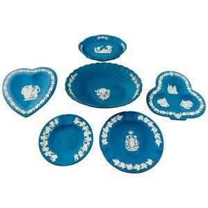 Wedgwood, 'English Wedgwood Blue Jasperware Decorative Small Plates, Set of 6', ca. 1930