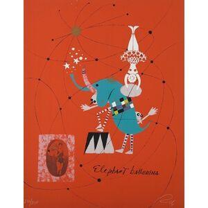 Wolfgang Roth, 'Rare Wolfgang Roth Dada Bauhaus Circus Silkscreen Print 5', 20th Century