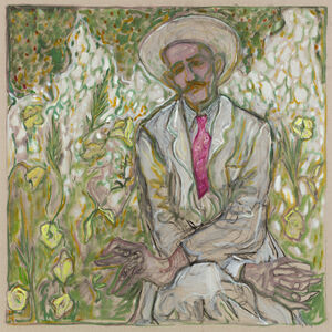 Billy Childish, 'man sat with crossed arms', 2018