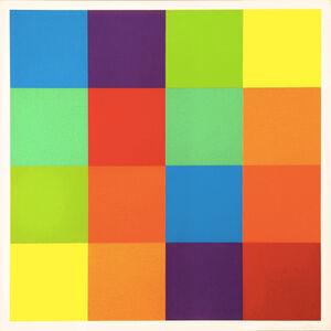 Richard Paul Lohse, 'Serial Order in 4 Vertical Alignments ', 1980-1985