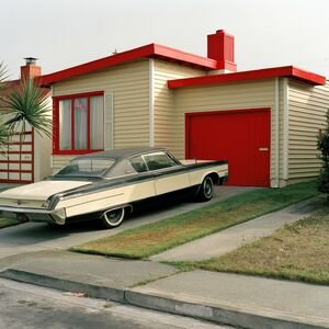 Jeff Brouws, 'Carmen Red, Daly City, California (Freshly Painted Houses) ', 1991