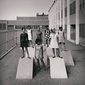 Kwame Brathwaite, 'Untitled (Photo shoot at a school for one of the many modeling groups who had begun to embrace natural hairstyles in the 1960s)'