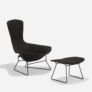 Harry Bertoia, 'Bird chair and ottoman', 1952/1960