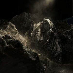 Edward Bateman, 'Half Dome No. 1 (with 3D printed landscape)', 2020