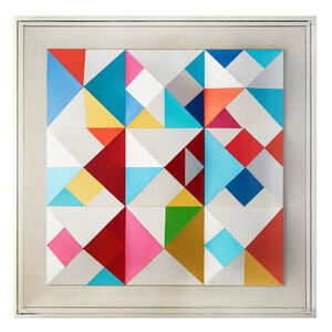 Yaacov Agam, ''Color Nines', Mixed Media, Screen Print, Wall Sculpture', 1984