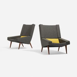 Illum Wikkelsø, 'Lounge Chairs, Pair', c. 1965