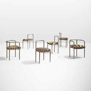 Etablissements Rene Herbst, 'dining chairs, set of six', 1930