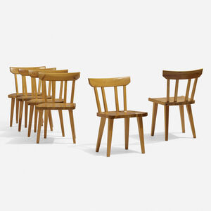 Carl Malmsten, 'Dining chairs, set of six', c. 1965