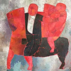 Yang Yang (b. 1953), 'Red Riders', 2013