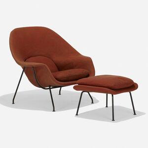 Eero Saarinen, 'Womb chair and ottoman', 1946