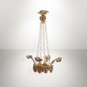 Mario Restelli, 'A pendant lamp with a gilt bronze structure', 1930 ca.