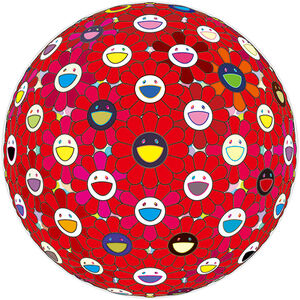 Takashi Murakami, 'Flower Ball: Bright Red 30/300', 2017