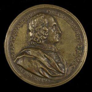 Massimiliano Soldani, 'Giovanni Battista Mancini, d. 1694, Agent General of Tuscany in Rome [obverse]', 1680