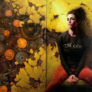 Anastasiya Chybireva-Fender, 'The Unicycle Muse (Jennifer Balkan- Diptych)', 2020