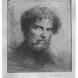 Augustus Edwin John, 'Selfportrait, bust bareheaded', 20th Century