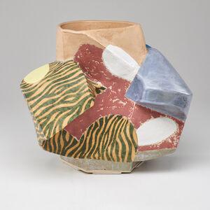 John Gill, 'Sculptural vessel in polychrome glaze', 1993