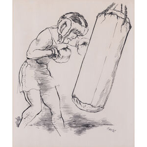 Georges Grosz, 'The boxer'