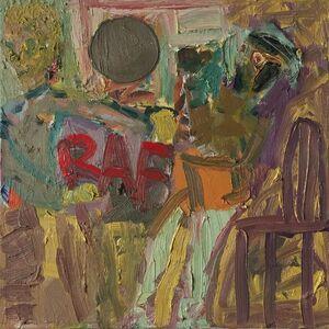 Matthew Collings, 'RAF Punch Up 1945', 2017