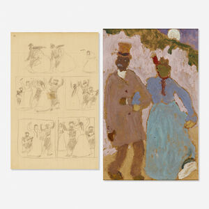 Pedro Figari, 'De Paseo and Untitled (two works)'
