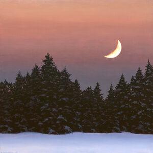 David Vickery, 'Heavy Snow and Crescent Moon '