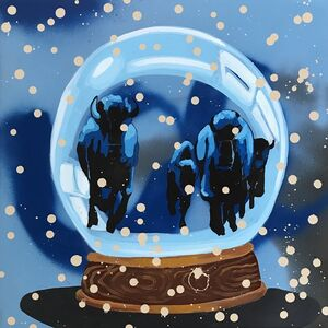 Frank Buffalo Hyde, 'Snow Globe Stampede', 2018