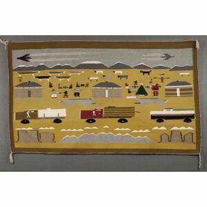 juanita tsosie, 'Christmas on the Navajo Reservation', 1974-1977