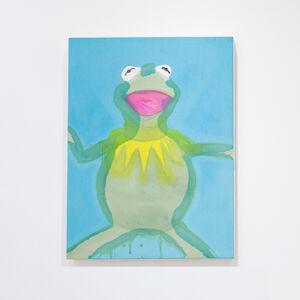 Liz Markus, 'Kermit with Blue Background', 2021