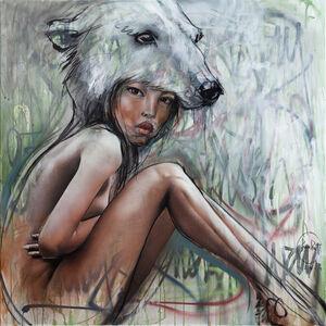 Herakut, 'Polar Bear Woman', 2019
