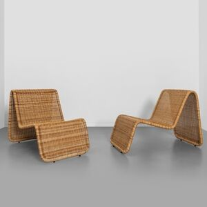 Tito Agnoli, 'A pair of 'BR 3' lounge chairs', 1962