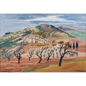 Yves Brayer, 'Assisi landscape, Italy', 1952
