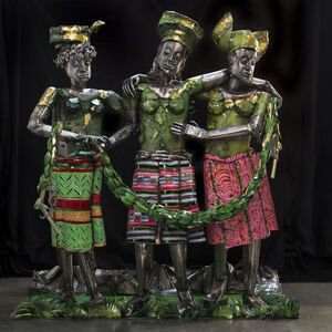Sokari Douglas Camp, 'Europe Supported by Africa and America ', 2015