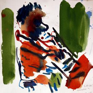 Otto Muehl, 'Pianist', 1985