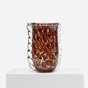 Fratelli Toso, 'Rare Mutras Vase', c. 1936