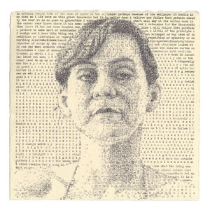 """Leslie Nichols, 'Mary (Gilman 1892): Excerpts from """"The Yellow Wallpaper"""" by Charlotte Perkins Gilman', 2019"""