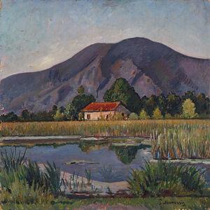 Piero Marussig, 'Casetta nella torbiera', circa 1929