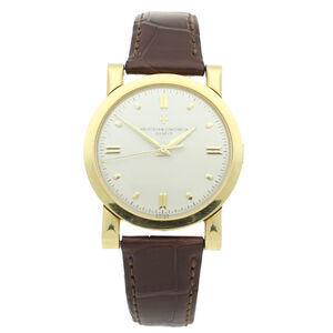 Vacheron & Constantin, '18ct yellow gold Chronometre Royale wristwatch Ref: 4907 with display case back.', ca. 1953