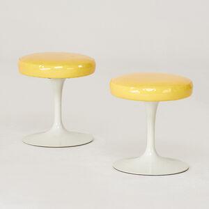 Eero Saarinen, 'DR Pair of tulip swivel stools', 1960s